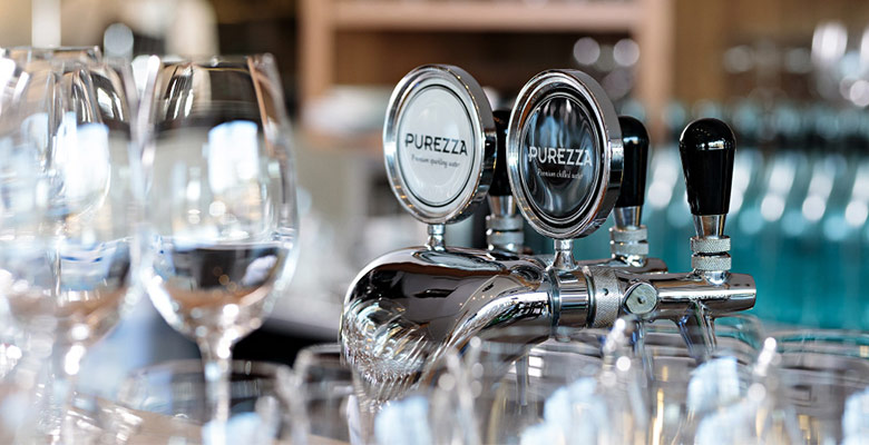 Purezza sparkling and still water tap system